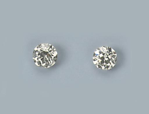 TWO OLD CUT DIAMONDS
