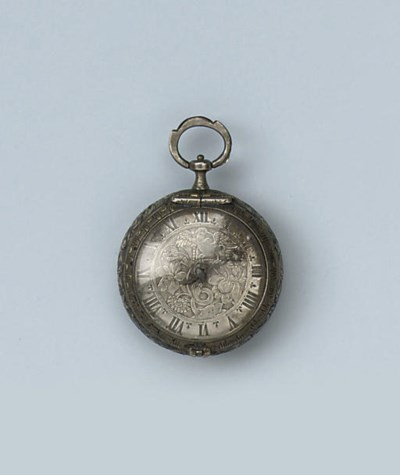 A SILVER VERGE WATCH BY LAUDRE