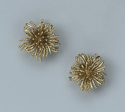 A PAIR OF EARRINGS, BY TIFFANY