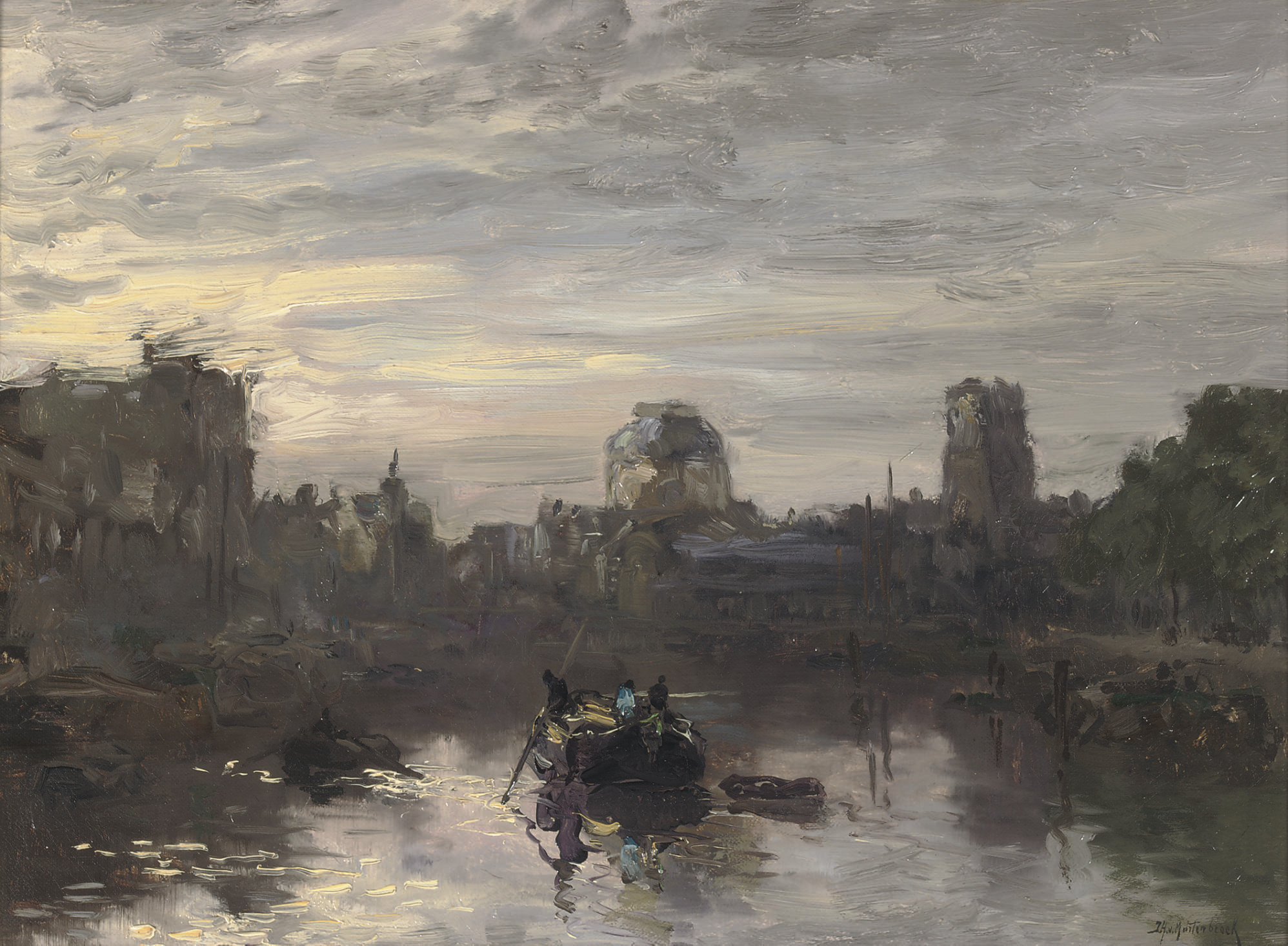 Avond schemering: dusk over the Leuvehaven, Rotterdam