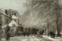 The Oude Scheveningseweg in winter, The Hague