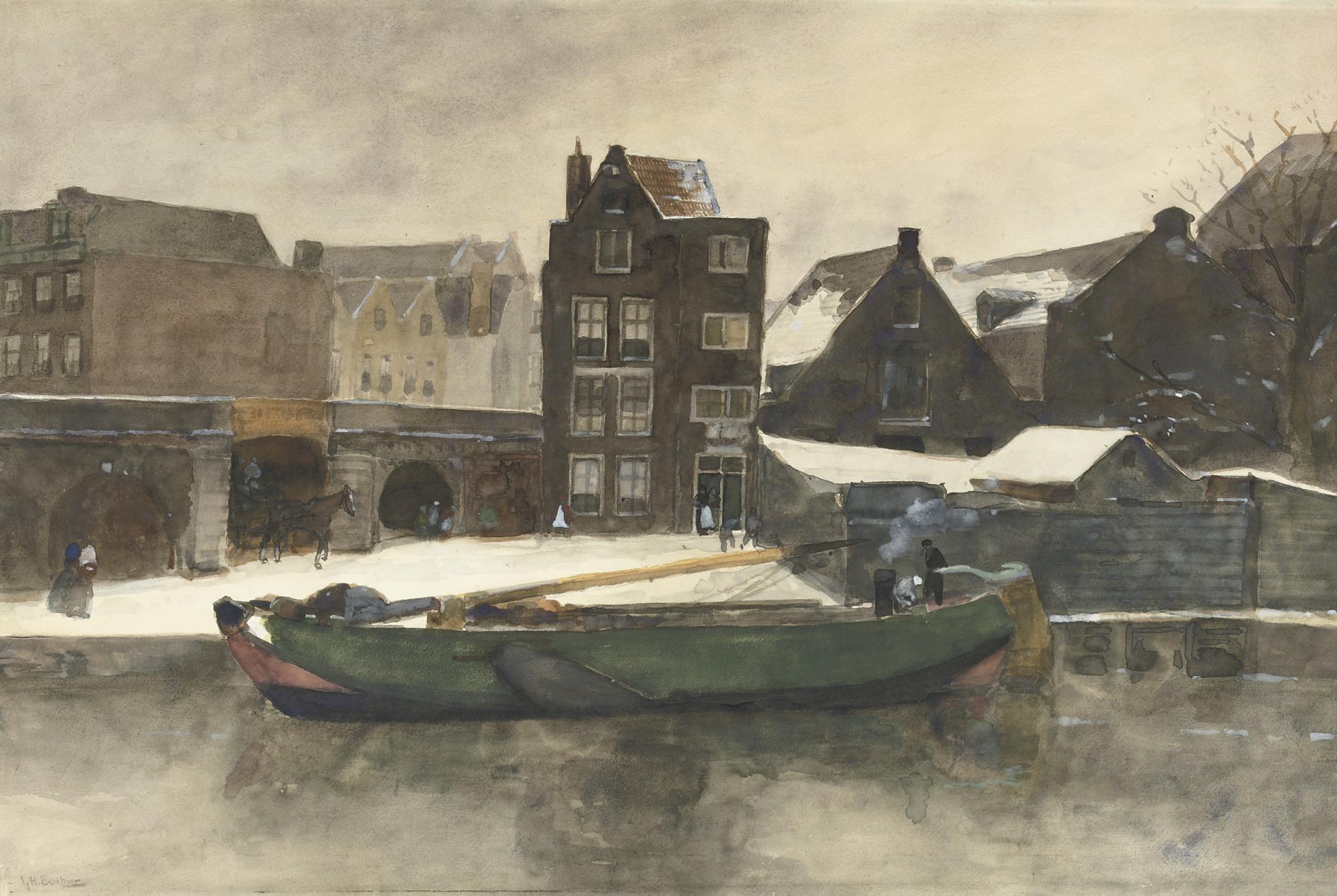 Het Prinseneiland: the Teertuinen in winter, Amsterdam