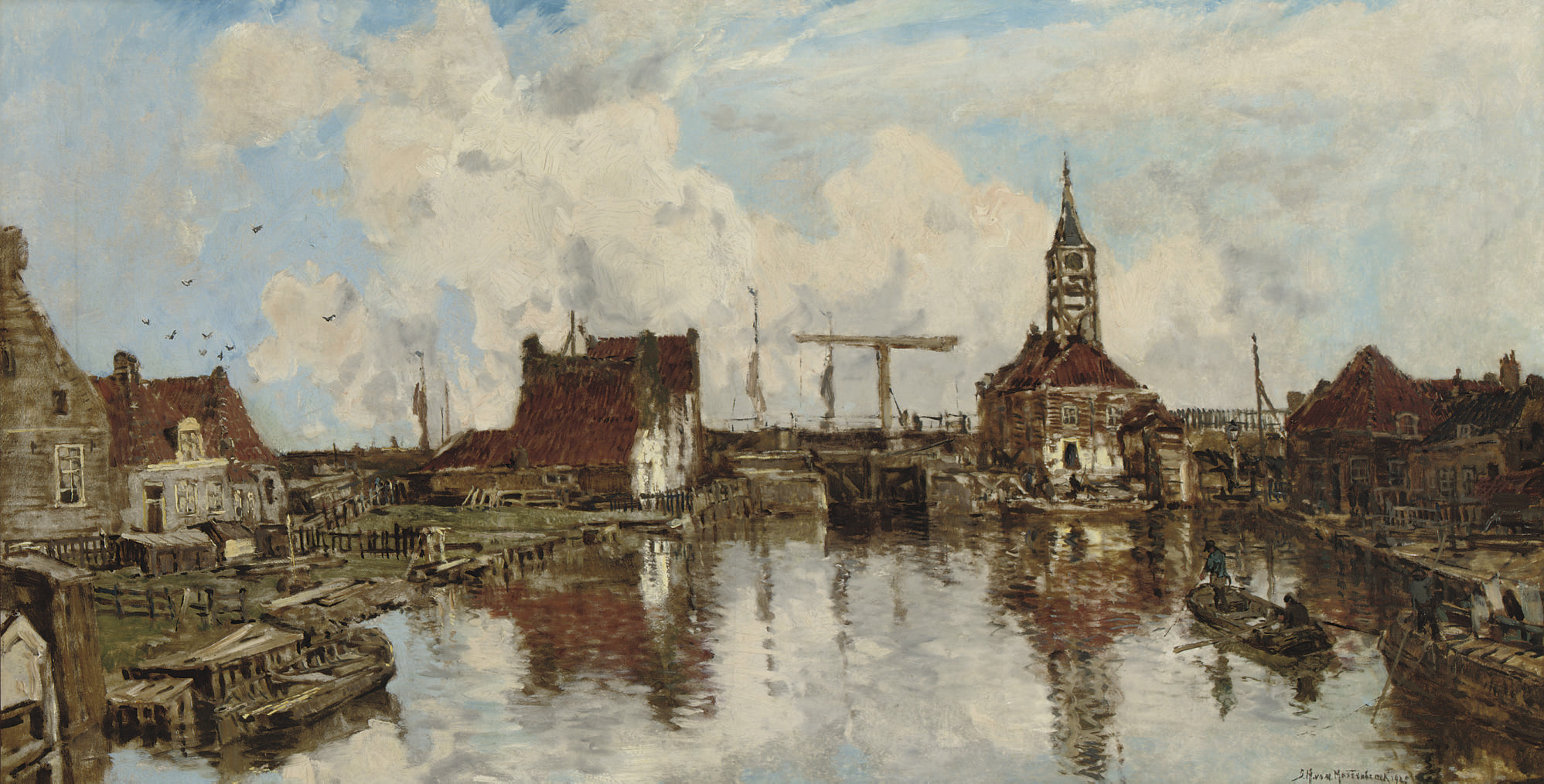 Haven te Hindeloopen: the harbour in summer