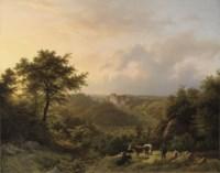 Paysage montagneux dans le Grand-Duché de Luxembourg: the stronghold Hollenfels, Luxembourg