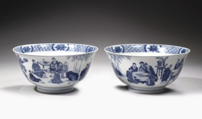 A pair of blue and white 'klap