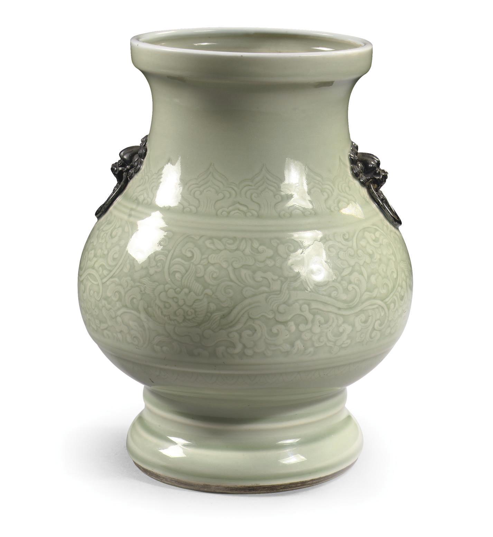An archaistic celadon-glazed c