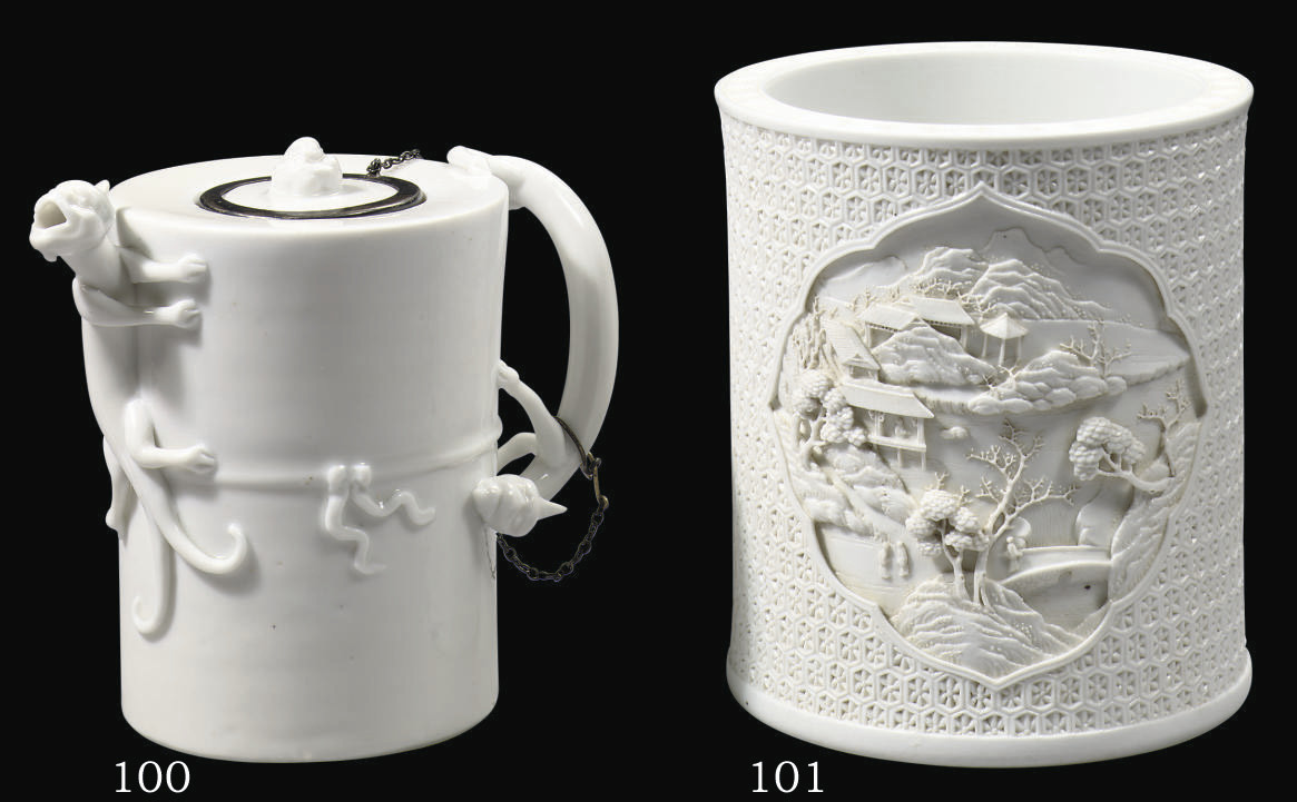 A blanc-de-chine wine-pot and