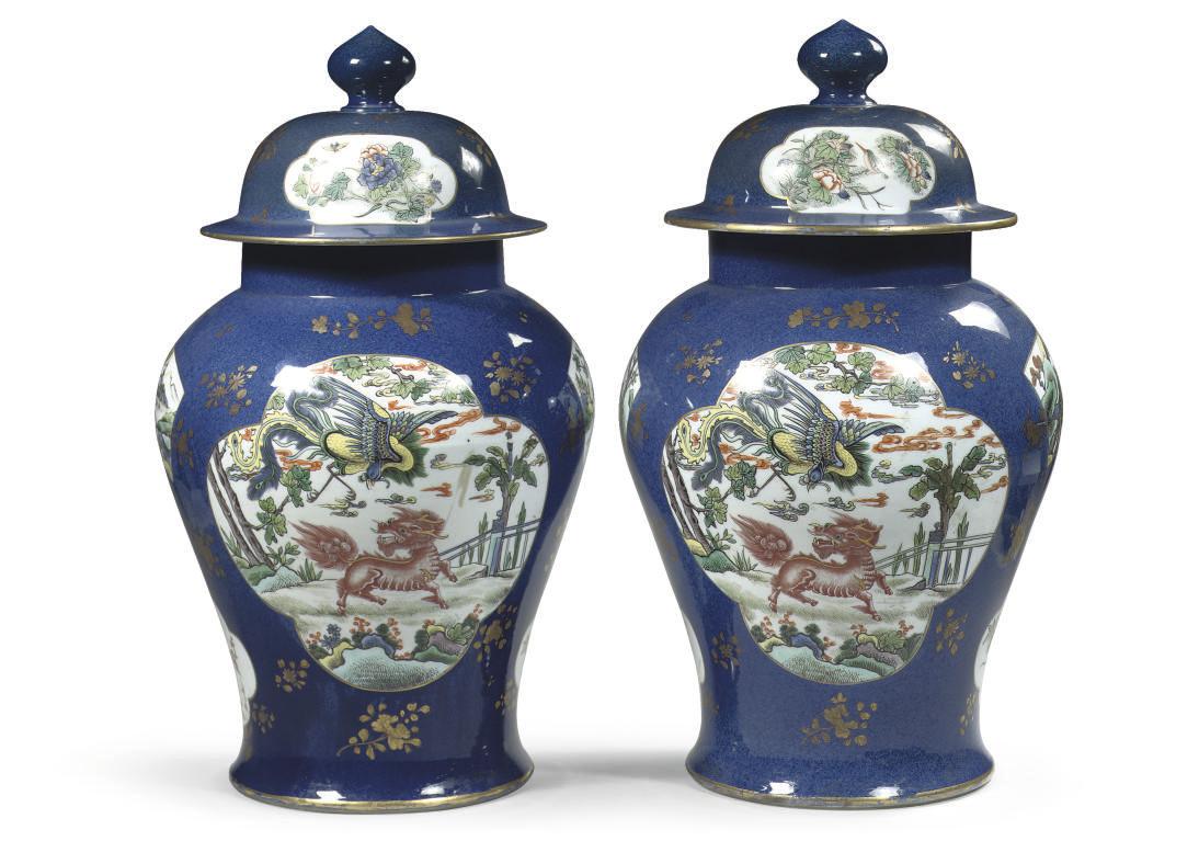 A pair of Samson powder blue b