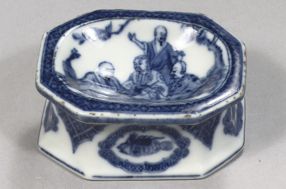 A blue and white octagonal Pro