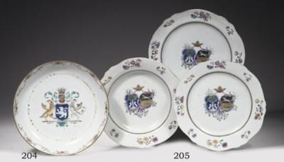 Three famille rose Dutch armor