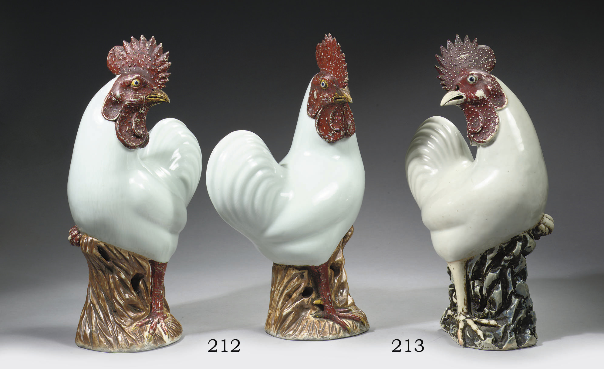A pair of large models of cock