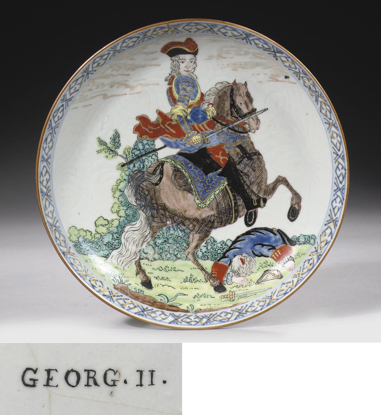 A rare Dutch-Decorated 'George