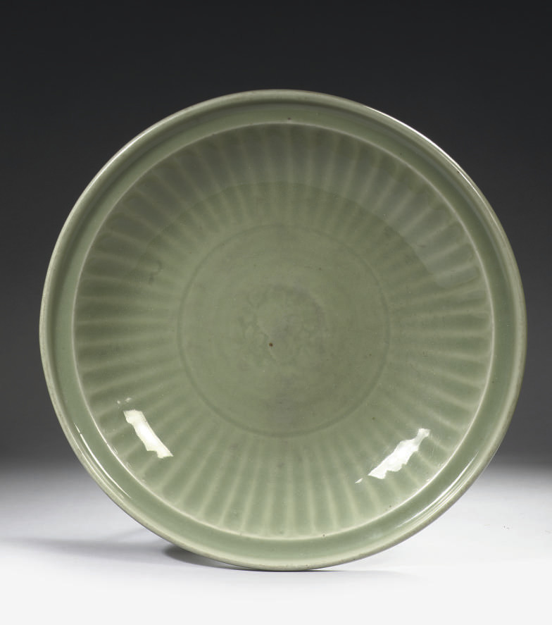 A large celadon charger