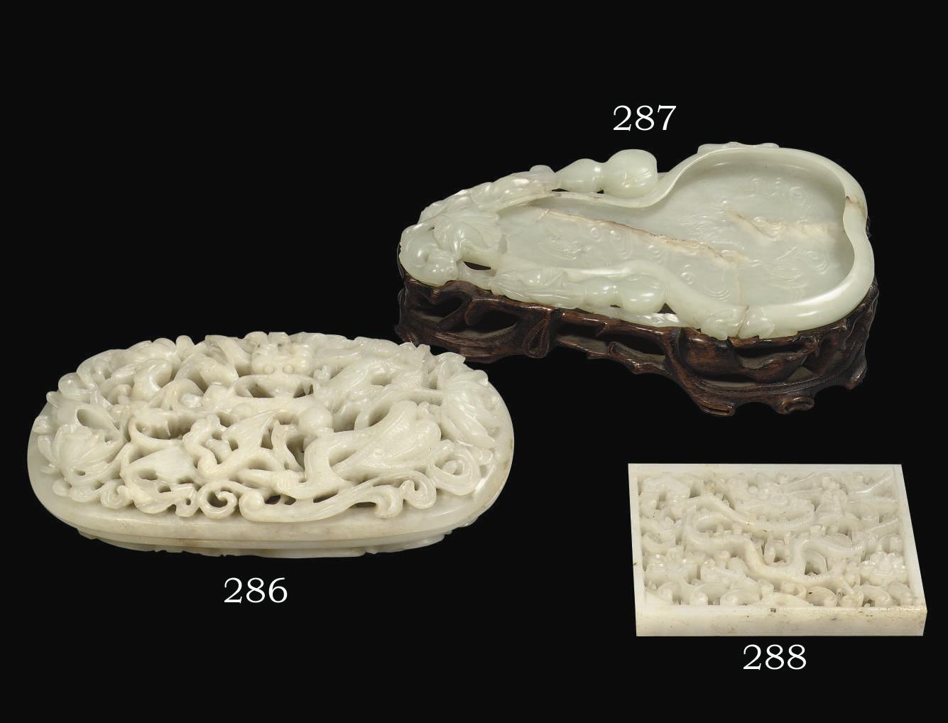 A white jade openwork box and
