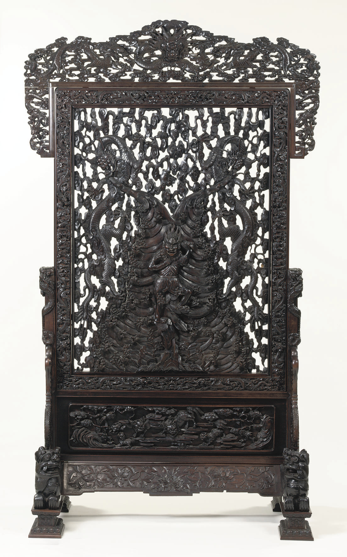 A very large hardwood openwork