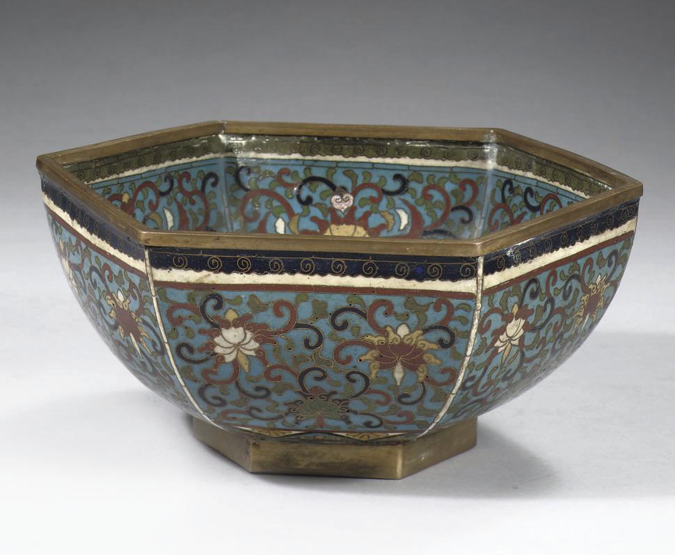 A cloisonne bowl