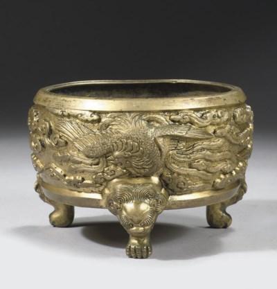 A gilt bronze censer