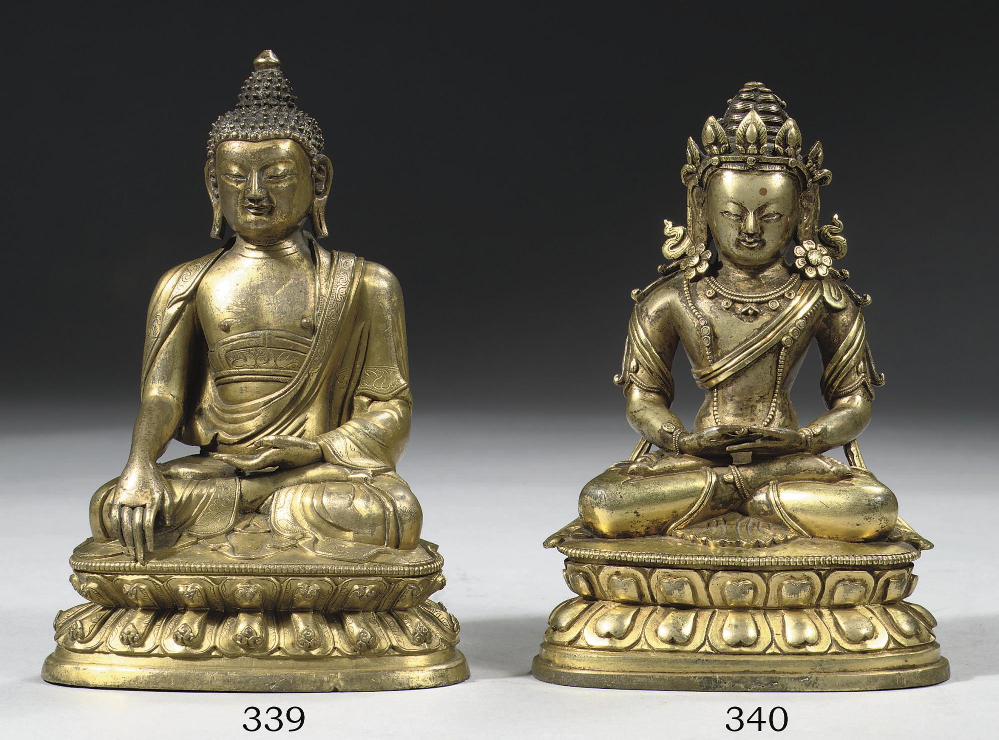 A sino-tibetan gilt-bronze fig