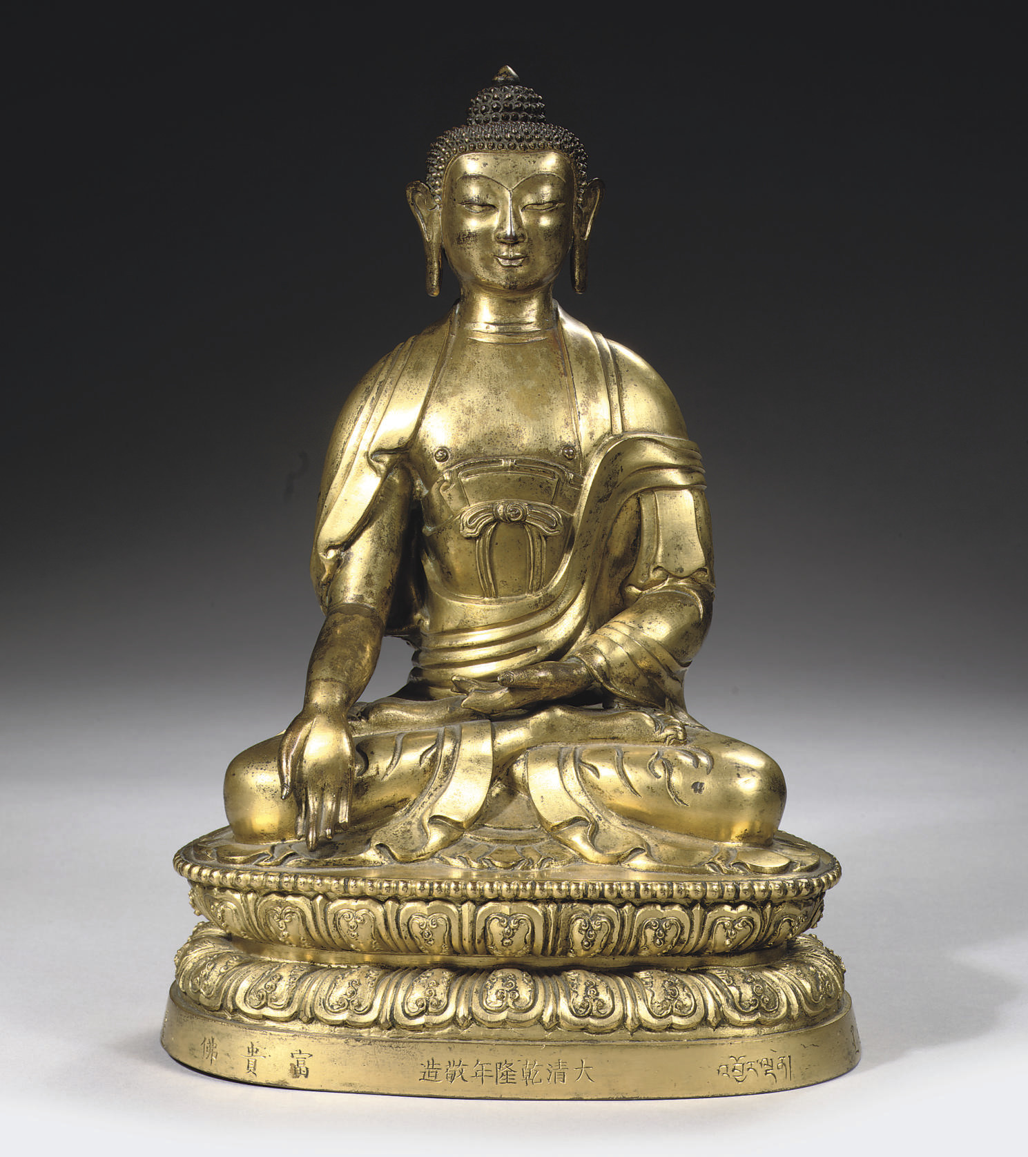 A sino-tibetan gilt bronze fig