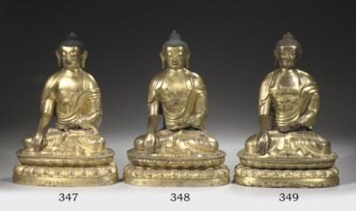 A sino-tibetan copper-gilt rep