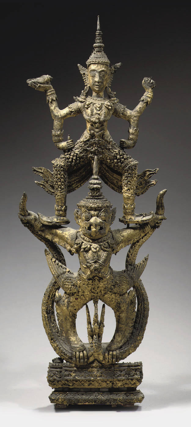 A Thai Ratnakosin style gilt-w