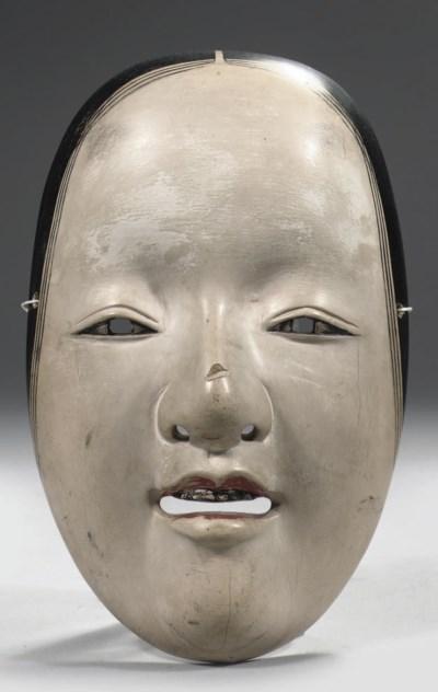 A wood noh mask