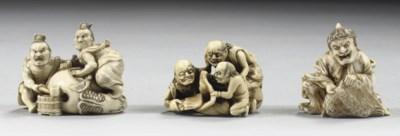 Three ivory netsuke