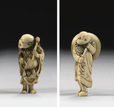 Two ivory netsuke