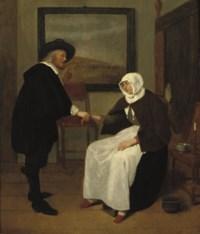 A doctor feeling a woman's pulse