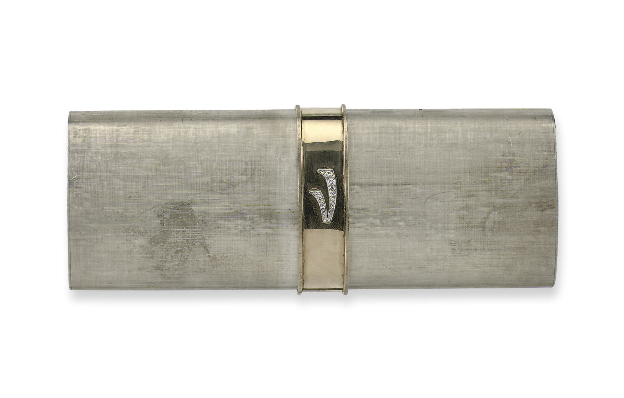 A SILVER EVENING BAG, BY GUCCI
