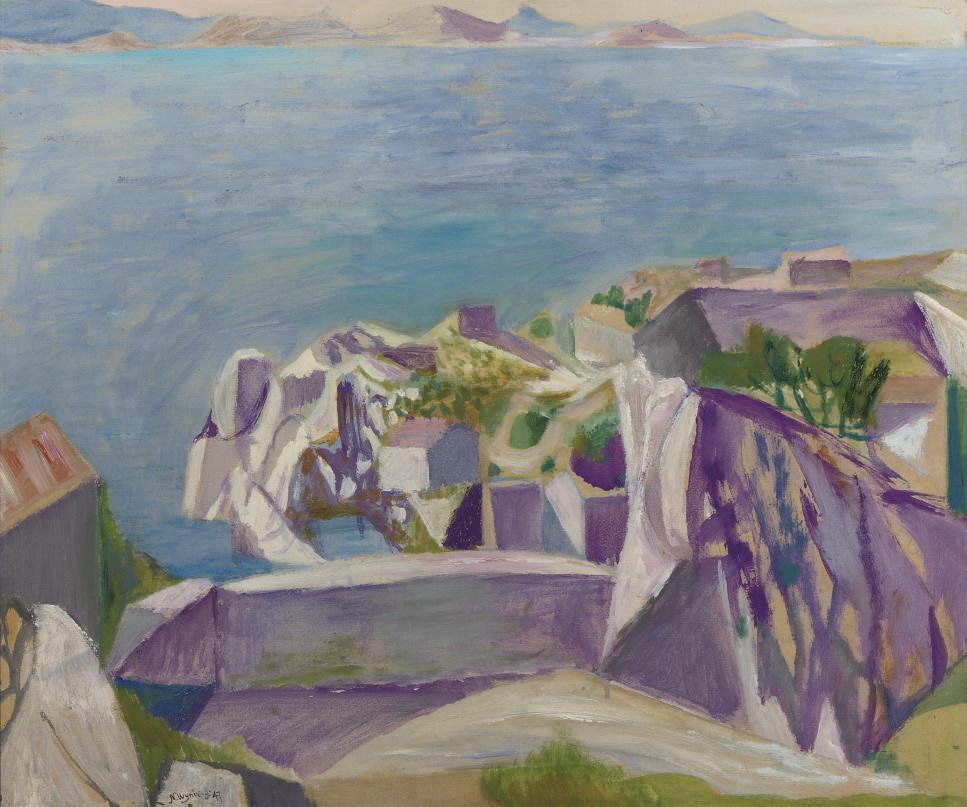 Mediterranean coastal scene