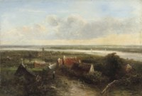 A panoramic river landscape