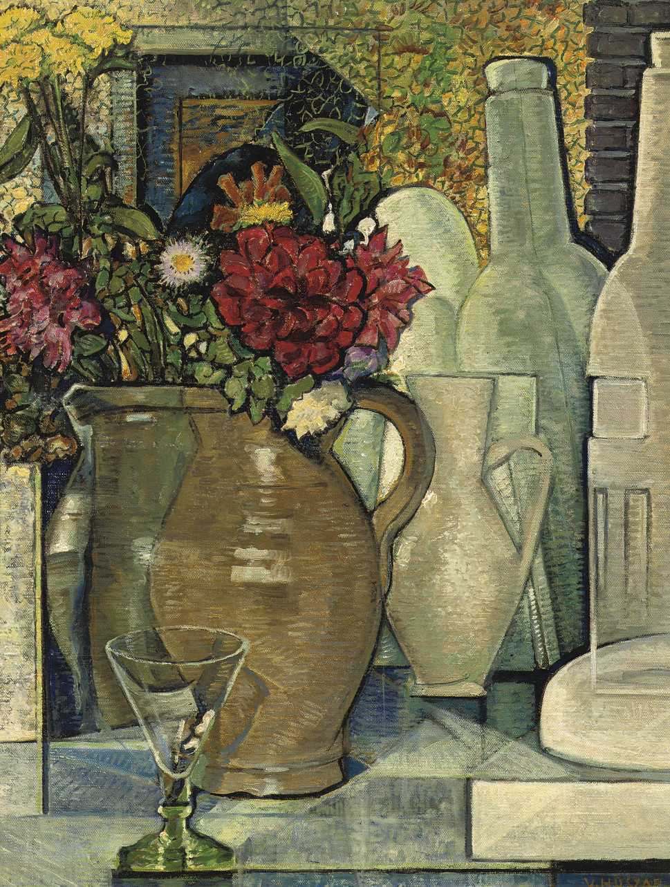 Vaas met bloemen - A still life with flowers in a vase