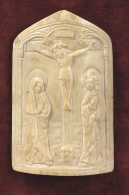 A CARVED IVORY PAX CHRISTI DEP