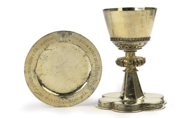 A German silver-gilt chalice a