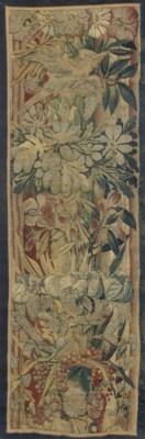 A FLEMISH TAPESTRY BORDER FRAG
