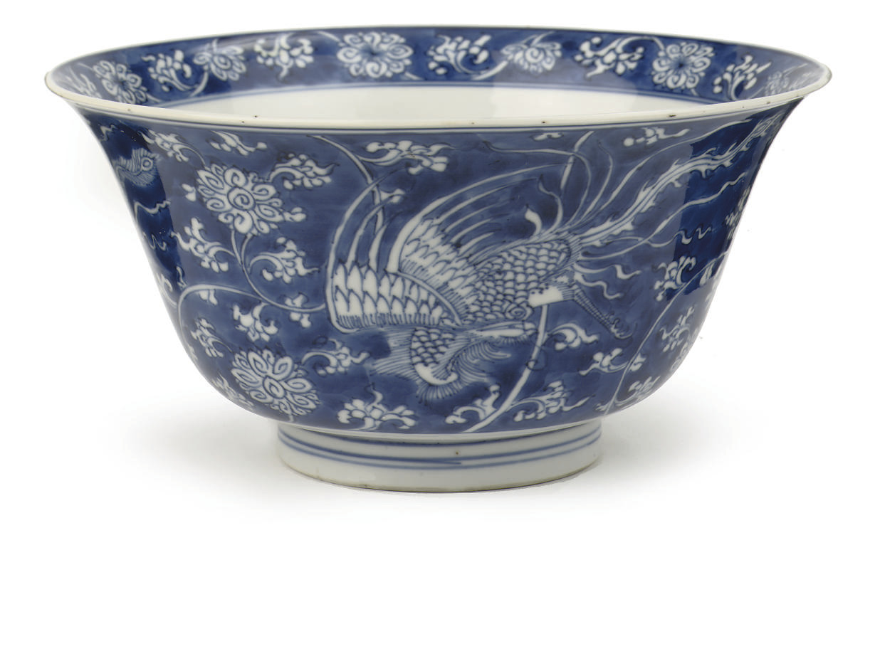 A Chinese blue and white 'klap