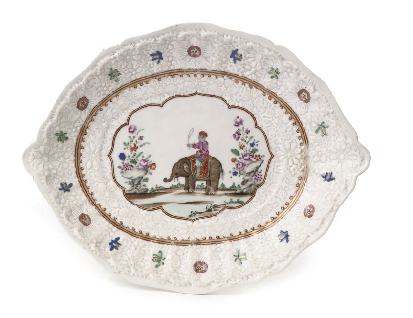 A Chinese famille rose dish fo