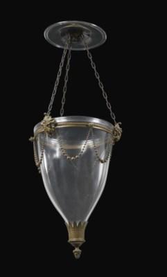 A DUTCH BRASS-MOUNTED GLASS LA