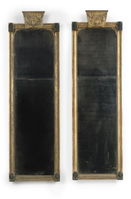 A PAIR OF DUTCH GILTWOOD AND B