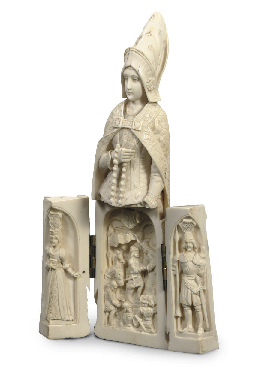 A DIEPPE IVORY TRIPTYCH MODELL