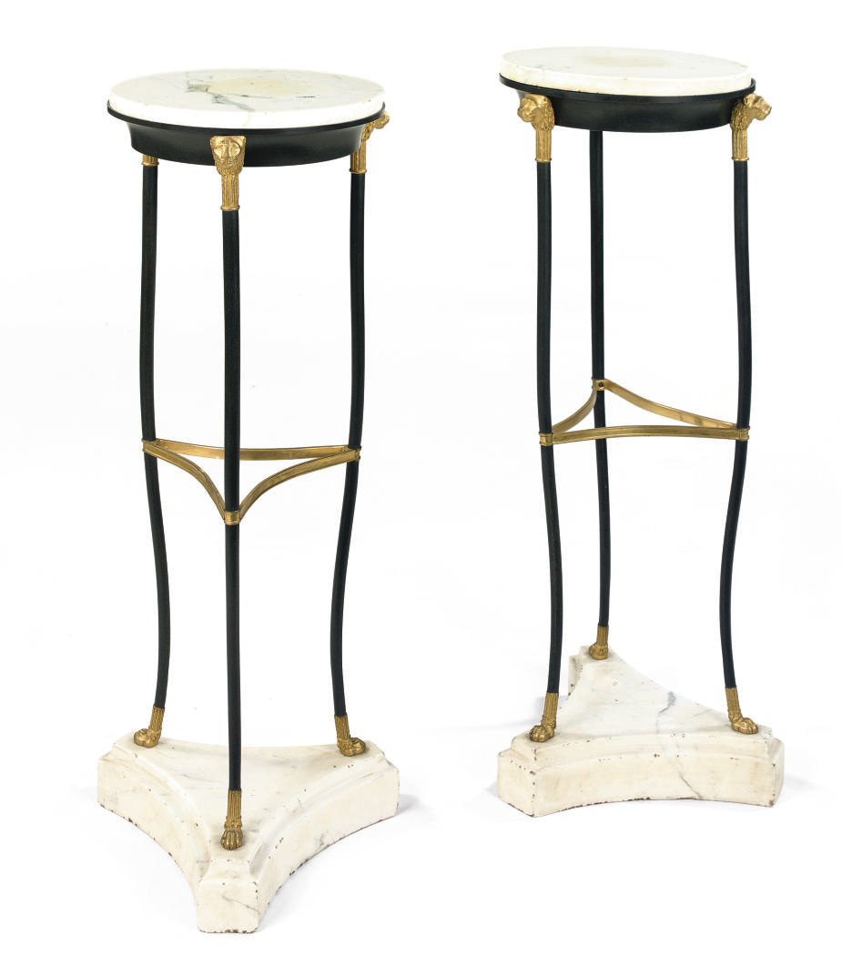 A PAIR OF FRENCH GILT, PATINAT