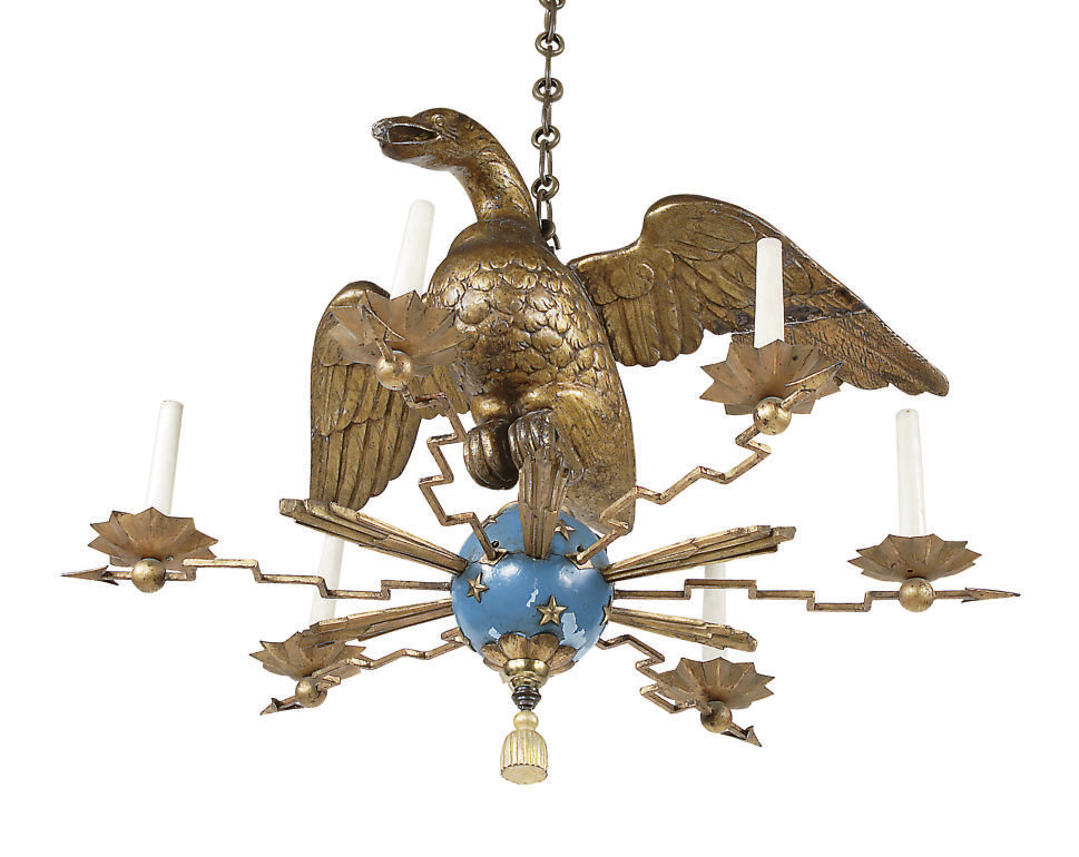 A NORTH EUROPEAN GILTWOOD, BLU