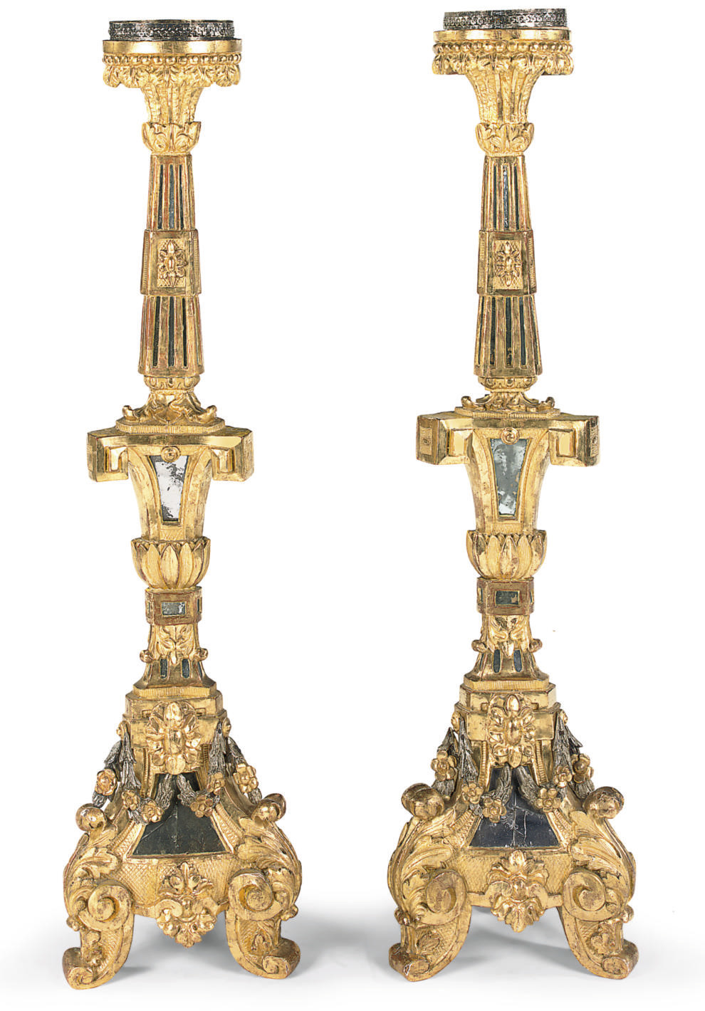 A PAIR OF AUSTRIAN GILTWOOD TO