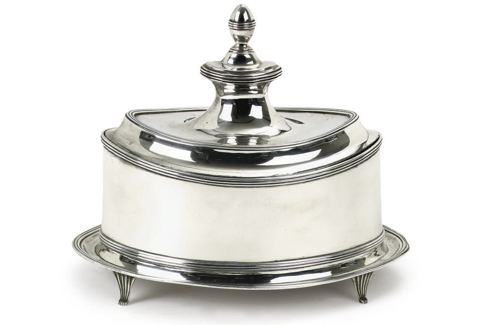 A DUTCH SILVER TOBACCO-POT