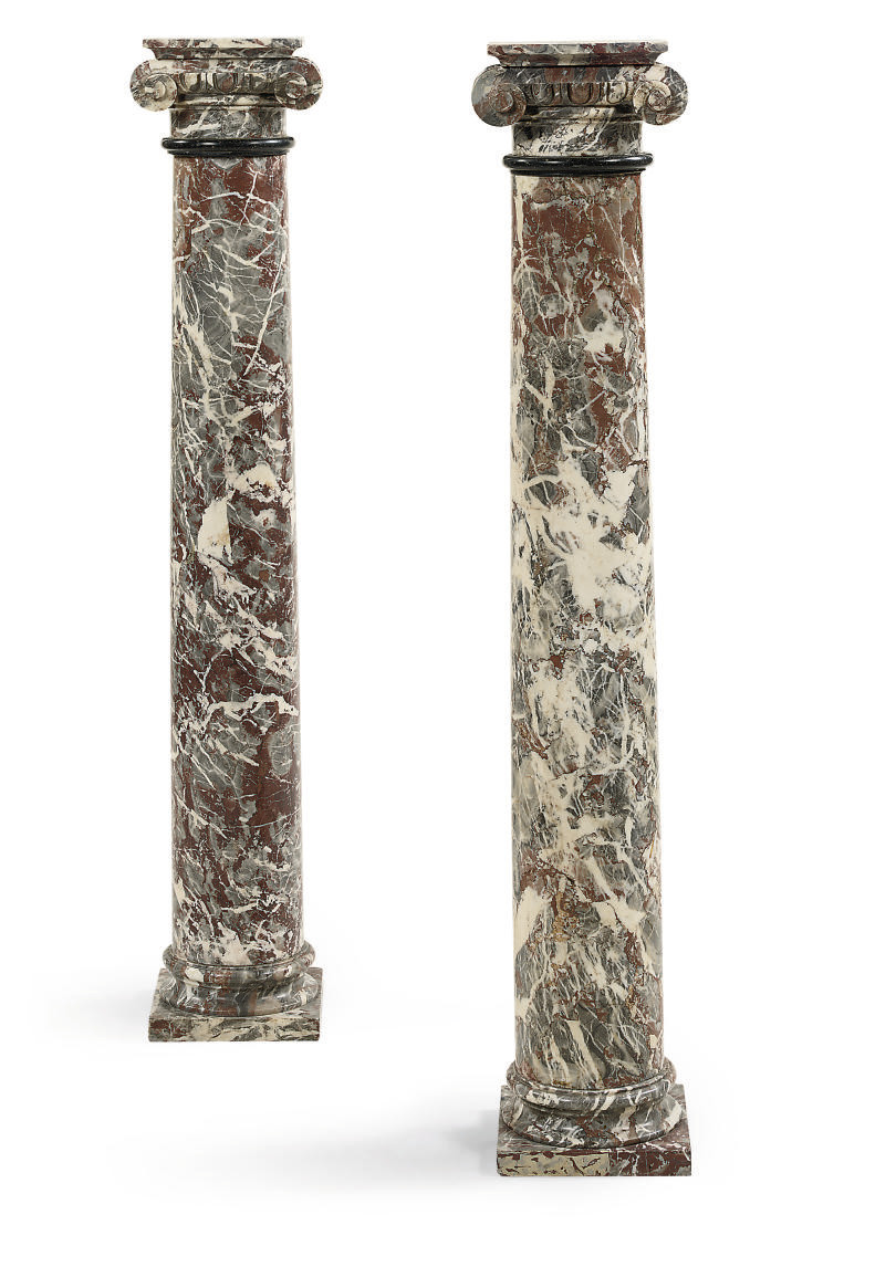 A PAIR OF ROUGE ROYALE MARBLE