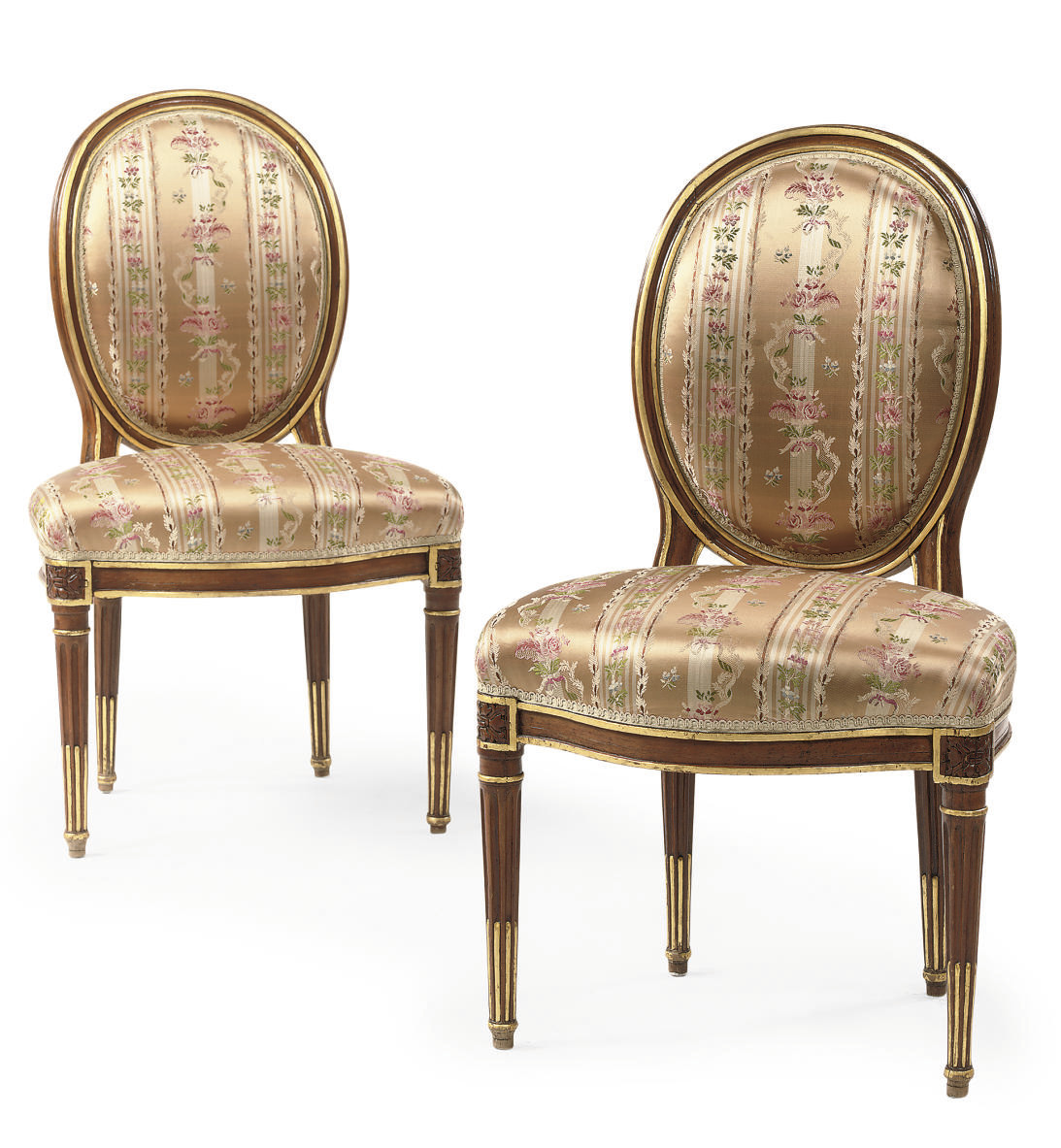 A PAIR OF LOUIS XVI PARCEL-GIL