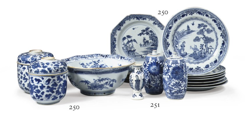 An assorted lot of Chinese blu
