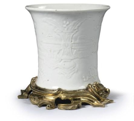 A Chinese blanc-de-chine ormol