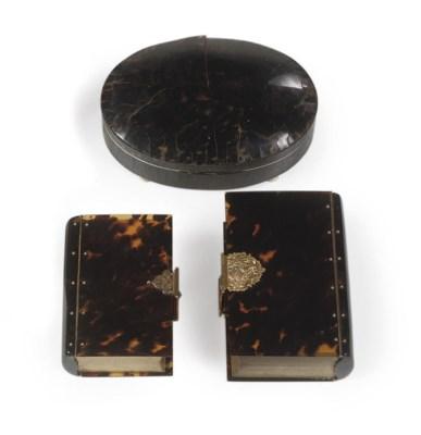 TWO GOLD-MOUNTED TORTOISESHELL